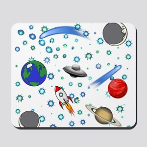 Kids Galaxy Universe Illustrations Mousepad